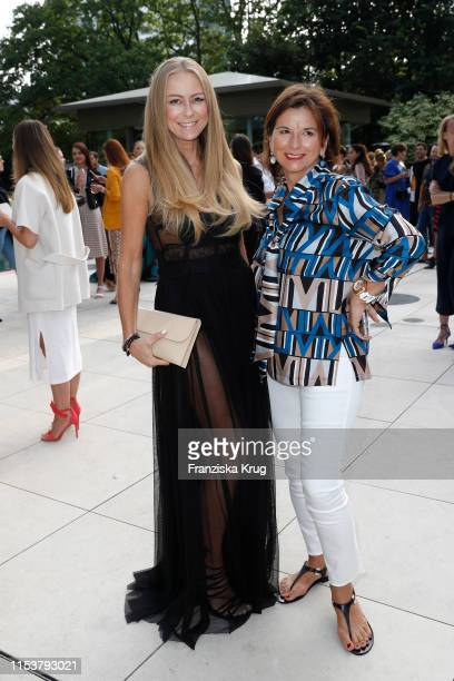Jenny Elvers and Claudia Obert during the CYBEX by Karolina Kurkova 4th of July Fashion BBQ at Villa Westend on July 4 2019 in Berlin Germany