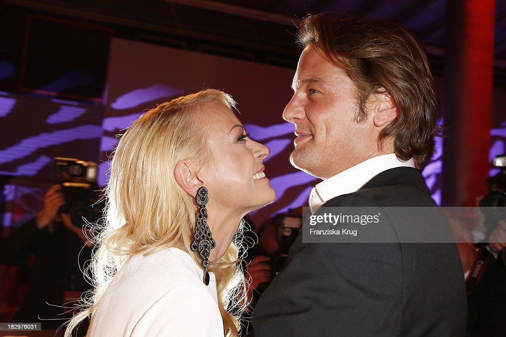 Jenny Elvers and Steffen von der Beeck attend the Deutscher Fernsehpreis 2013 - After Show Party at Coloneum on October 02, 2013 in Cologne, Germany.