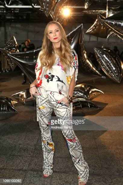 Jenny Elvers attends the Dawid Tomaszewski Defile during the Berlin Fashion Week Autumn/Winter 2019 on January 16 2019 in Berlin Germany