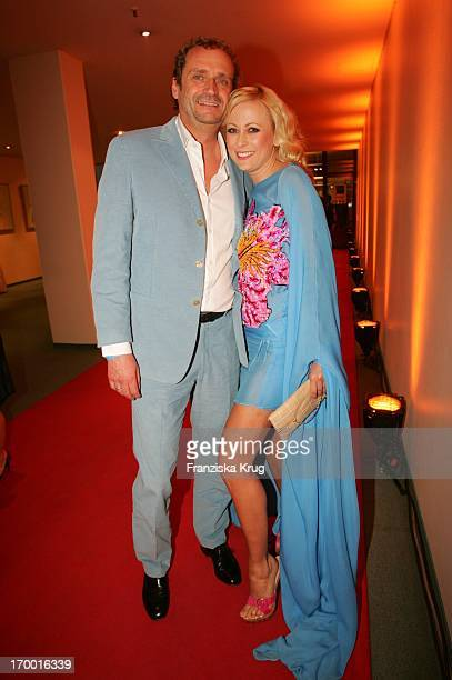 Jenny Elvers Elbertzhagen With Husband Goetz after The 14th Ceremony Of Music Prize The German Phonographic Academy echo In Estrel Convention Center...