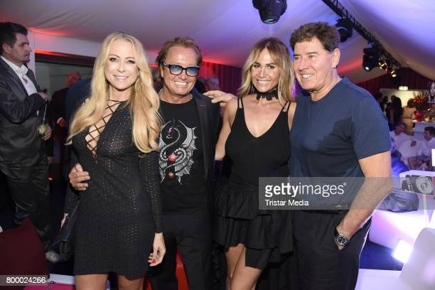 Jenny Elvers Robert Geiss Jack White and his wife Rafaella Slyusareva attend the Bertelsmann Summer Party on June 22 2017 in Berlin Germany