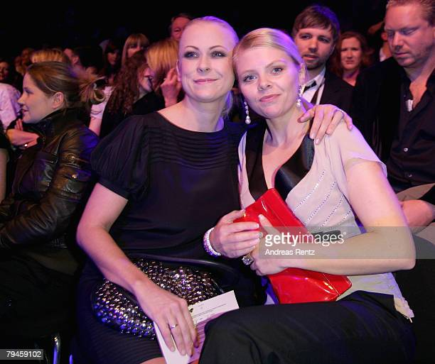 Jenny ElversElbertzhagen and AnneSophie Briest attend the Zac Posen fashion show during the MercedesBenz Fashionweek Berlin autumn/winter 2008 on...