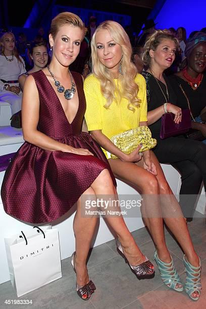 Jenny ElversElbertzhagen and Wolke Hegenbarth attend the Dimitri show during the MercedesBenz Fashion Week Spring/Summer 2015 at Erika Hess...