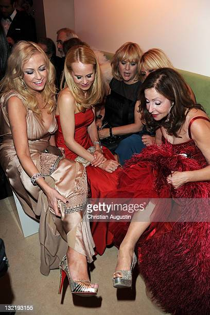Jenny ElversElbertzhagen Nadja zu SchaumburgLippe Patricia Riekel and Vicky Leandros attend the Bambi Award 2011 aftershow party at the...