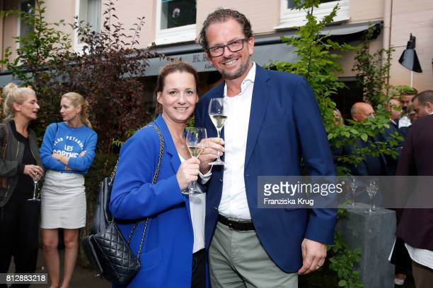 Jenny Falckenberg and JensPeter Gardthausen attend the 'Krug Kiosk' Event on July 11 2017 in Hamburg Germany