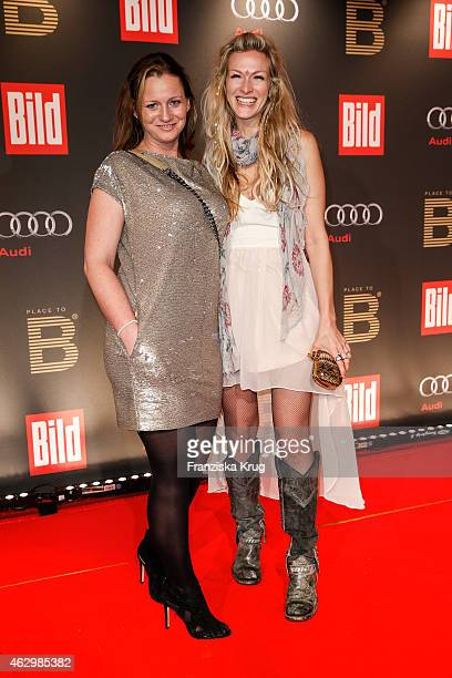 Jenny Falckenberg and Mia Florentine Weiss attend the Bild 'Place to B' Party on February 07 2015 in Berlin Germany