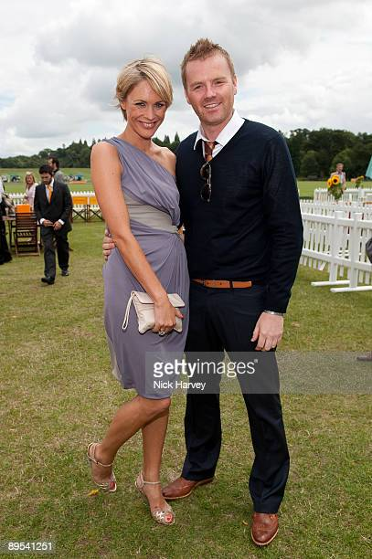 Jenny Falconer and James Midgley attend the Veuve Clicquot Gold Cup Final on July 19 2009 in Midhurst England