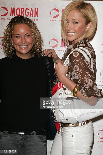 Jenny Frost and guest during Morgan Autumn/Winter 2006 Fashion Show at Duchess Palace in London Great Britain