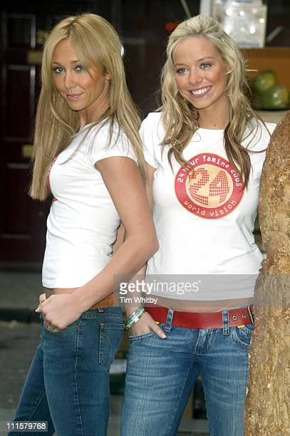 Jenny Frost and Liz McClarnon of Atomic Kitten during Atomic Kitten's Jenny and Liz Promote World Vision's 24Hour Famine Youth Fundraiser at Soho in...