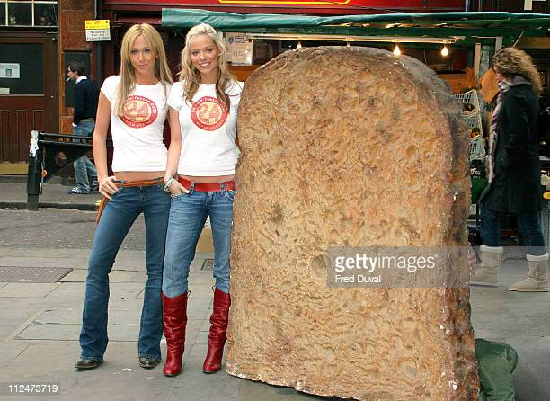 Jenny Frost and Liz McClarnon of Atomic Kitten during Atomic Kitten's Jenny and Liz Promote World Vision's 24Hour Famine Youth Fundraiser at Berwick...