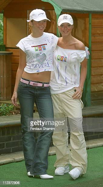 Jenny Frost and Liz Mclarnon during Atomic Kitten Launches Jeans for Gnes Day at Great Ormond Street in London England Great Britain