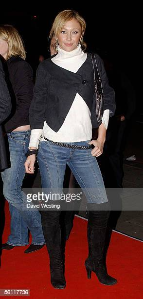 Jenny Frost arrives at the aftershow party following the UK premiere of In Her Shoes at the Grosvenor House Hotel November 7 2005 in London England