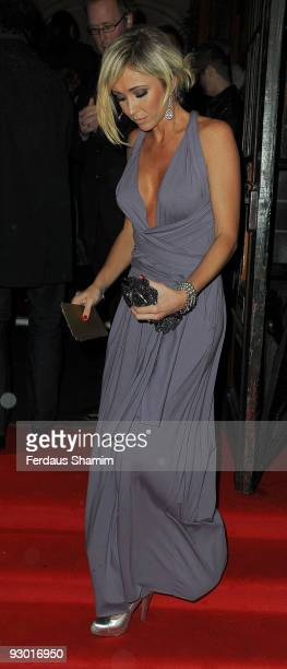 Jenny Frost attends the 40th anniversary party of Butler Wilson at KOKO on November 12 2009 in London England