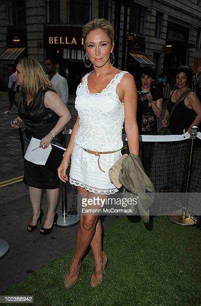 Jenny Frost attends The Slazenger party for official Wimbledon ball supplier at Movida on June 24 2010 in London England