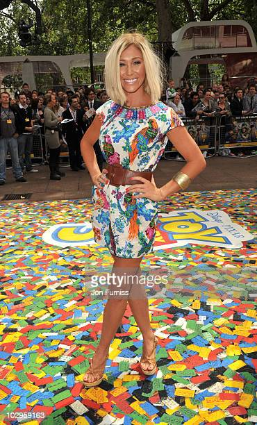 Jenny Frost attends the UK premiere of Toy Story 3 at Empire Leicester Square on July 18 2010 in London England
