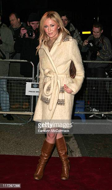 Jenny Frost during An Audience with Take That Arrivals at The London Television Centre in London Great Britain