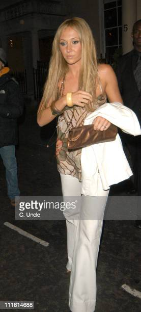 Jenny Frost during An Evening with Patrizio Buanne Arrivals in London Great Britain