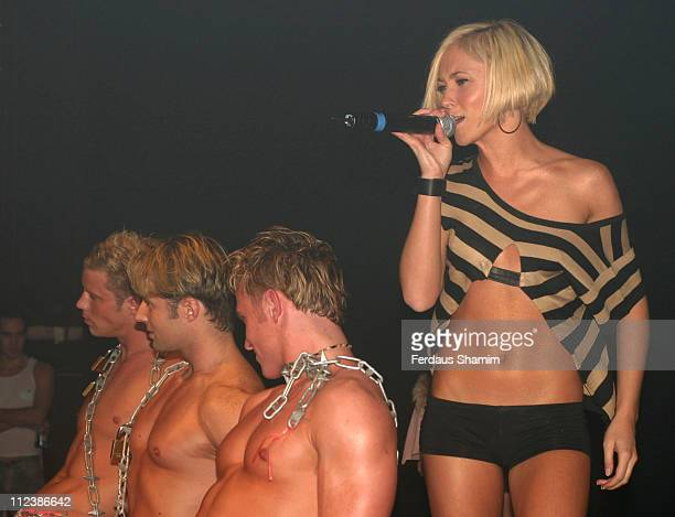 Jenny Frost during Atomic Kitten performs in Gay Astoria Theater at Gay Astoria Theater in London Great Britain