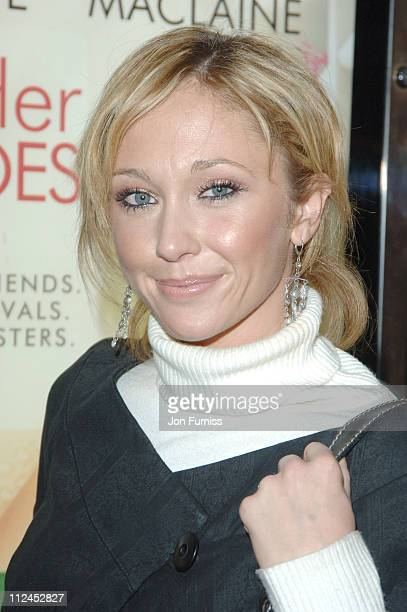 Jenny Frost during In Her Shoes London Premiere Inside Arrivals at Empire Leicester Square in London Great Britain