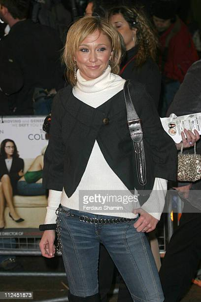"Jenny Frost during ""In Her Shoes"" London Premiere - Outside Arrivals at Empire Leicester Square in London, Great Britain."