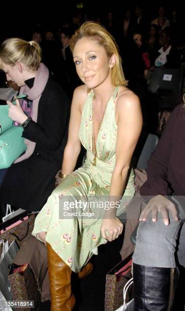 Jenny Frost during London Fashion Week Autumn/Winter 2006 Ghost Show Backstage and Front Row at BFC Tent Natural History Museum in London Great...