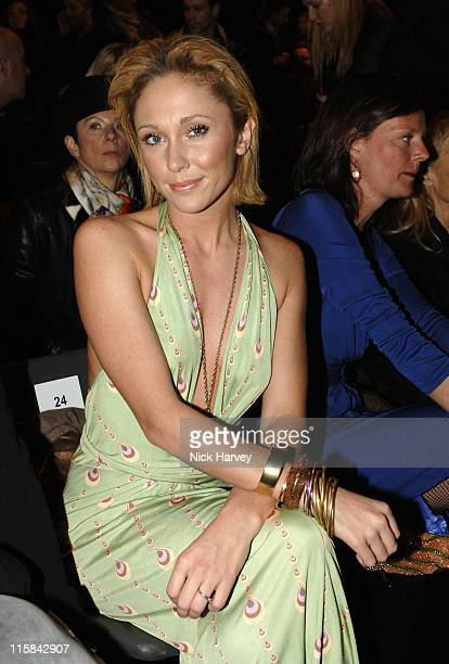 Jenny Frost during London Fashion Week Autumn/Winter 2006 Issa Backstage at Natural History Museum in London Great Britain