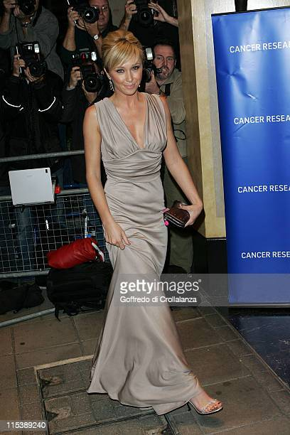 Jenny Frost during The 2005 Pink Ice Ball Arrivals at The Dorchester Hotel in London Great Britain