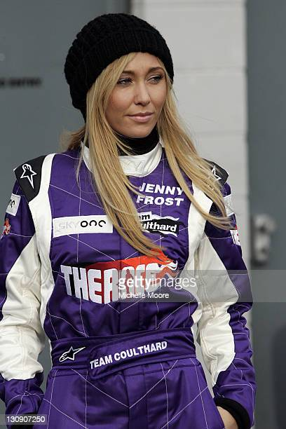Jenny Frost during The Race Photocall and Press Conference at Silverstone in Northampton Great Britain