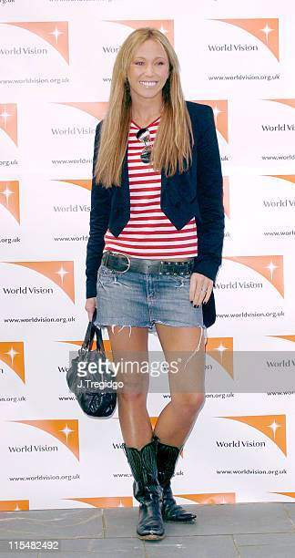 Jenny Frost during World Vision Hope Breakfast Press Launch at Oxo Tower in London Great Britain