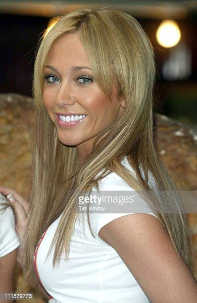 Jenny Frost of Atomic Kitten during Atomic Kitten's Jenny and Liz Promote World Vision's 24Hour Famine Youth Fundraiser at Soho in London Great...
