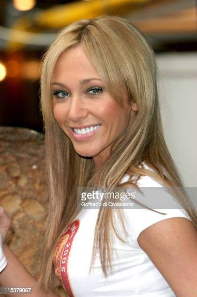 Jenny Frost of Atomic Kitten during Atomic Kitten's Jenny and Liz Promote World Vision's 24Hour Famine Youth Fundraiser at Berwick Street Market in...
