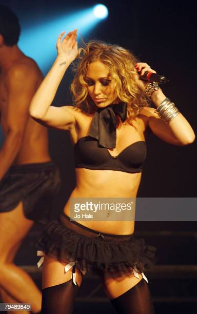 Jenny Frost of Atomic Kitten performs at G-A-Y Astoria,on February 02, 2008 in London.