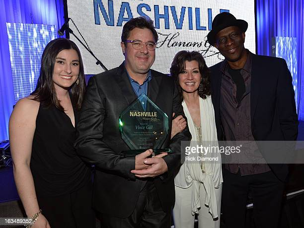 Jenny Gill Vince Gill Amy Grant and Keb' Mo' attend TJ Martell Honors Gala at Hutton Hotel on March 10 2013 in Nashville Tennessee