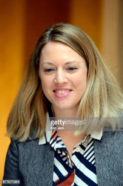 Jenny Gilruth the partner of former Scottish Labour leader Kezia Dugdale in the Scottish Parliament on November 21 2017 in Edinburgh Scotland Ms...