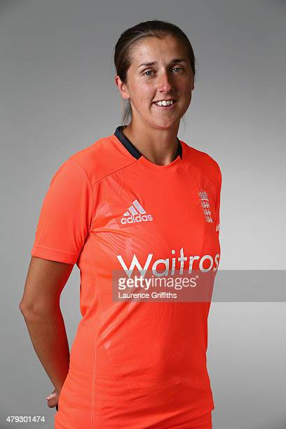 Jenny Gunn of England poses for a portrait at the National Cricket Performance Centre on July 1 2015 in Loughborough England