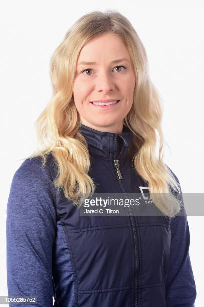 Jenny Haglund of Sweden poses for a portrait during the LPGA Q Series Head Shots session at Pinehurst Resort on October 29 2018 in Pinehurst North...