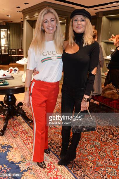 Jenny Halpern Prince and Adela King attend the Lady Garden Foundation 5th anniversary breakfast at the Gucci Sloane Street boutique on December 5...