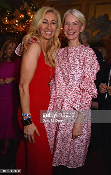Jenny Halpern Prince and Anna Bateson join Hornby and Halpern Prince at their annual Christmas drinks in Mayfair at Annabel's on December 11 2018 in...