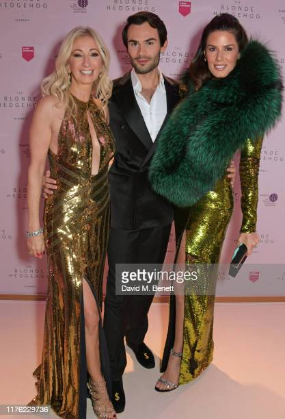 Jenny Halpern Prince MarkFrancis Vandelli and Christina Estrada attend the Lady Garden Foundation Gala 2019 at Claridge's Hotel on October 16 2019 in...