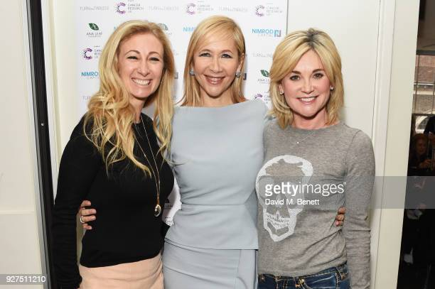 Jenny Halpern Prince, Tania Bryer and Anthea Turner attend Turn The Tables 2018 hosted by Tania Bryer and James Landale in aid of Cancer Research UK...