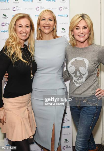 Jenny Halpern Prince Tania Bryer and Anthea Turner attend Turn The Tables 2018 hosted by Tania Bryer and James Landale in aid of Cancer Research UK...
