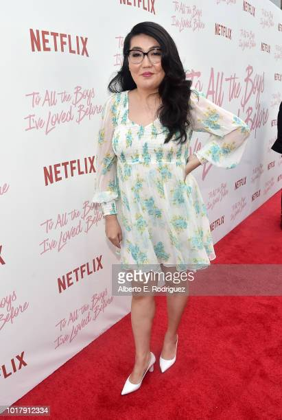 Jenny Han attends a screening of Netflix's 'To All The Boys I've Loved Before' at Arclight Cinemas Culver City on August 16 2018 in Culver City...