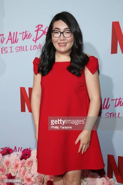 Jenny Han attends the premiere of Netflix's To All The Boys PS I Still Love You at the Egyptian Theatre on February 03 2020 in Hollywood California