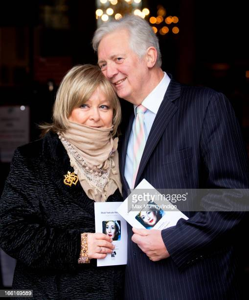 Jenny Hanley and Sir Jeremy Hanley attend a memorial for their mother actress Dinah Sheridan at St Paul's Church Covent Garden on April 9 2013 in...