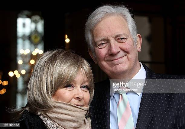 Jenny Hanley and Sir Jeremy Hanley son and daughter of Dinah Sheridan attend a memorial for Dinah Sheridan an actress who starred in 'The Railway...