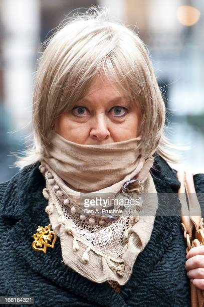 Jenny Hanley attends a memorial for Dinah Sheridan an actress who starred in 'The Railway Children' at St Paul's Church on April 9 2013 in London...