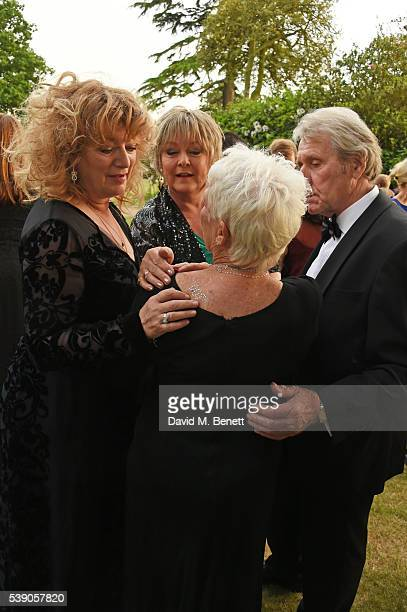 Jenny Hanley Dame Judi Dench and David Mills attend the Duke of Edinburgh Award 60th Anniversary Diamonds are Forever Gala at Stoke Park on June 9...