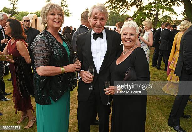 Jenny Hanley David Mills and Dame Judi Dench attend the Duke of Edinburgh Award 60th Anniversary Diamonds are Forever Gala at Stoke Park on June 9...