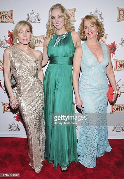 Jenny Hill Angie Schworer and Linda Griffin attend 'Something Rotten' Broadway Opening Night at Tavern On The Green on April 22 2015 in New York City