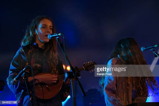 Jenny Hollingworth and Rosa Walton of Let's Eat Grandma performs at CastlePalooza at Charville Castle on July 2, 2016 in Tullamore, Ireland.